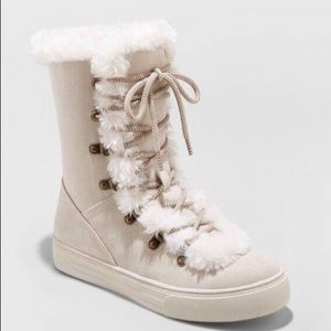 Tira Faux Fur Lace Up Fashion Winter Boots